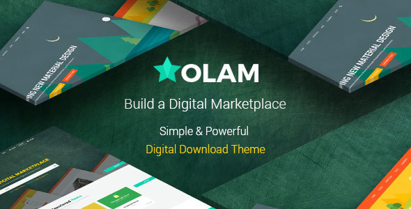 Olam - WordPress Easy Digital Downloads Theme, Digital Marketplace, Bookings - eCommerce WordPress
