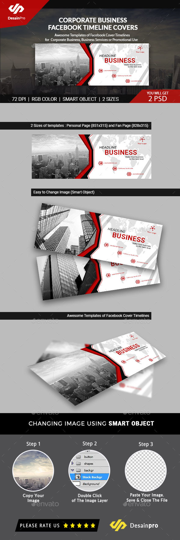 Corporate Business FB Timeline Cover - AR - Facebook Timeline Covers Social Media