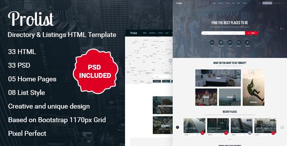 Image of Prolist - Directory & Listings HTML Template