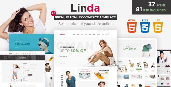 Image of Linda - Mutilpurpose eCommerce HTML Template