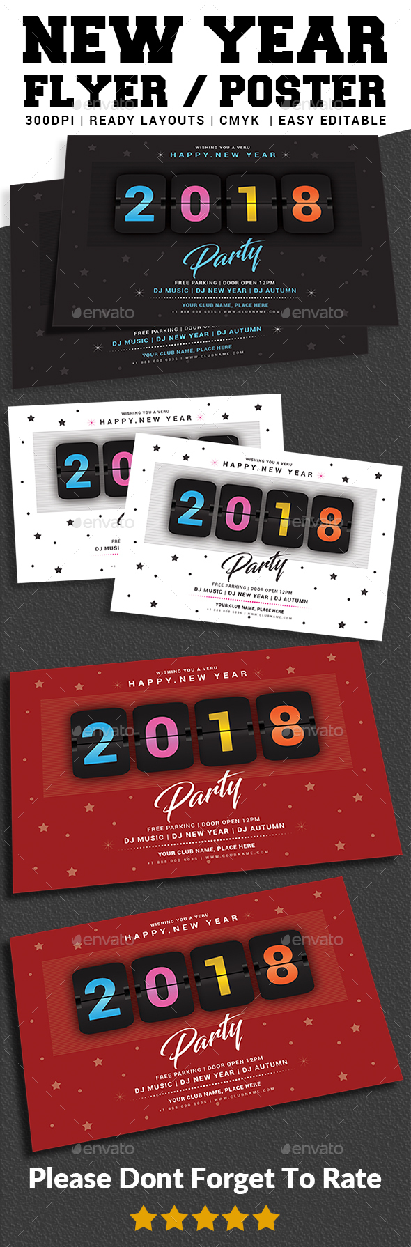 GraphicRiver New Year Party Flyer 21043907