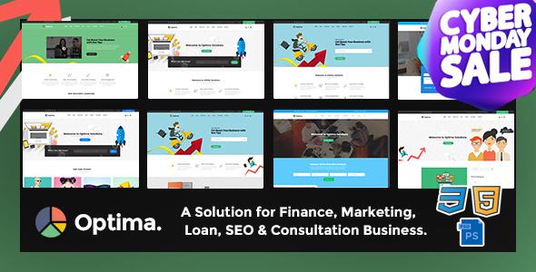Optima - SEO, Marketing, Social Media, Multipurpose Responsive HTML5 Template