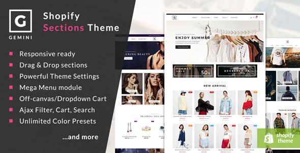 Image of Gemini - Responsive Shopify Fashion Theme
