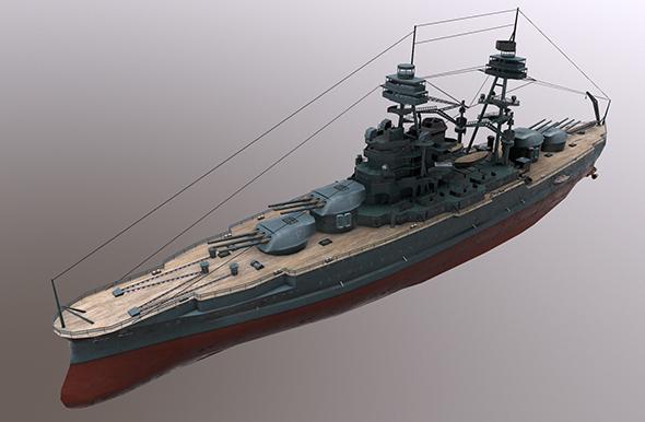 3DOcean USS Arizona Battleship 21044196