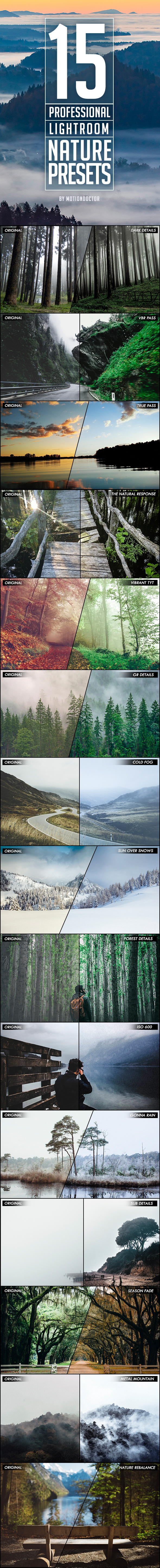 GraphicRiver 15 Professional Nature Lightroom Presets 21017166