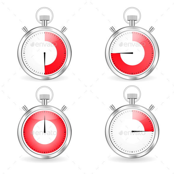 GraphicRiver Digital Timers Stopwatch Set 21044310