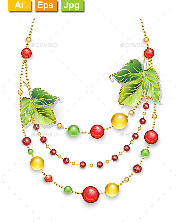 GraphicRiver Autumn Necklace 21044417
