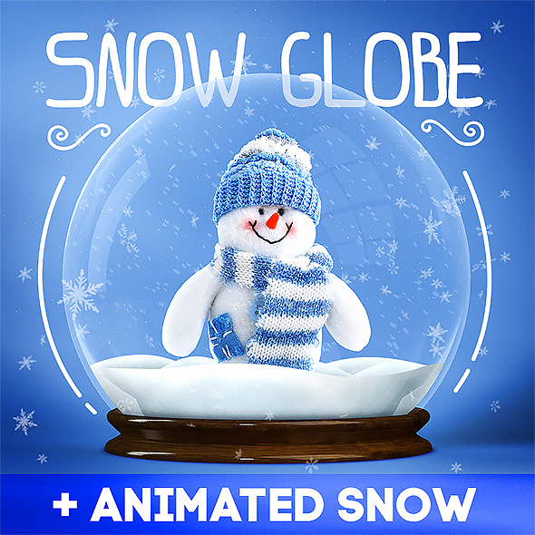GraphicRiver Snow Globe & Animated Snow 21044444