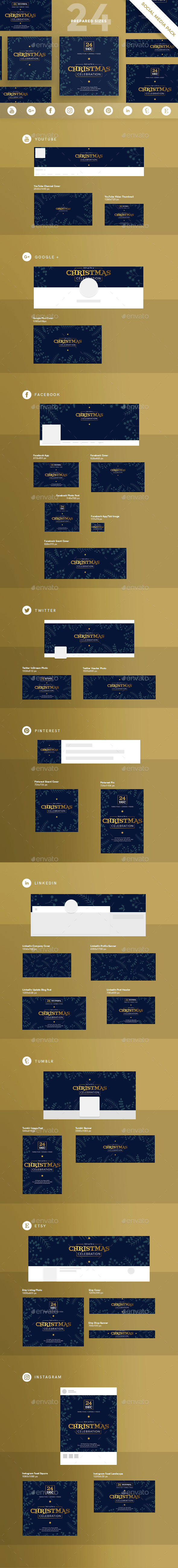Christmas Celebration Social Media Pack - Miscellaneous Social Media