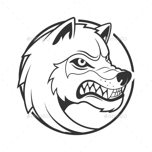 GraphicRiver Wolf Emblem Minimalistic Vector Illustration 21044860