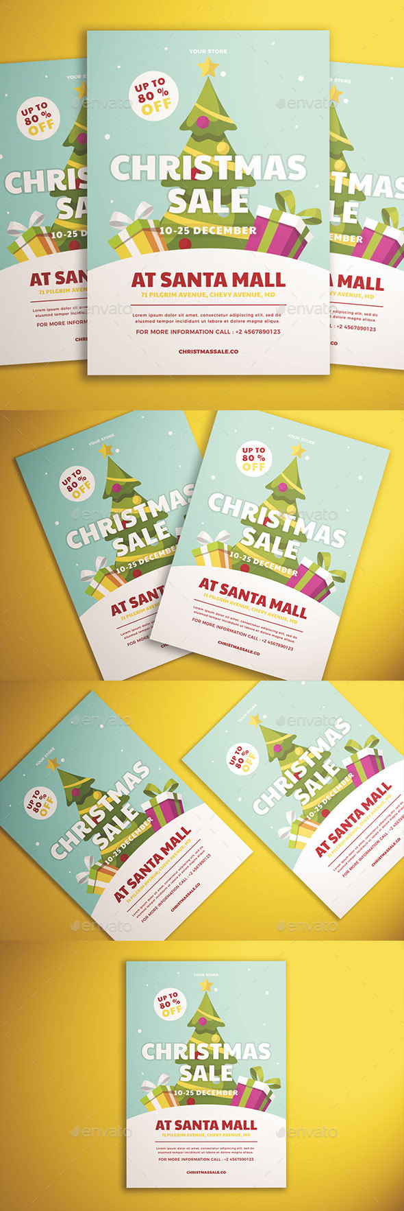 GraphicRiver Christmas Sale Flyer Vol 01 21044882