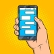 Smart Phone Messaging Pop Art Vector