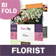 Florist Bifold / Halffold Brochure 3