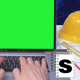 Green Screen Architect Computer - VideoHive Item for Sale