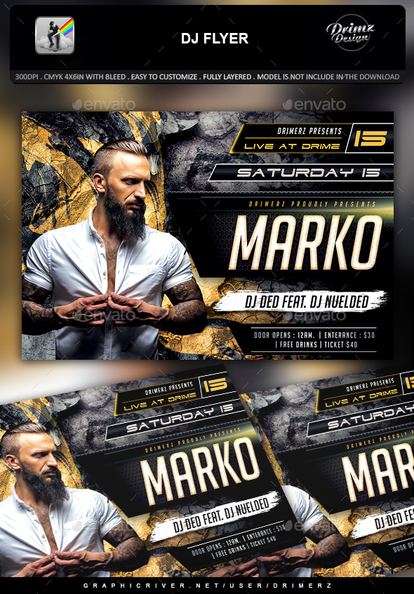 GraphicRiver DJ Flyer 21044940