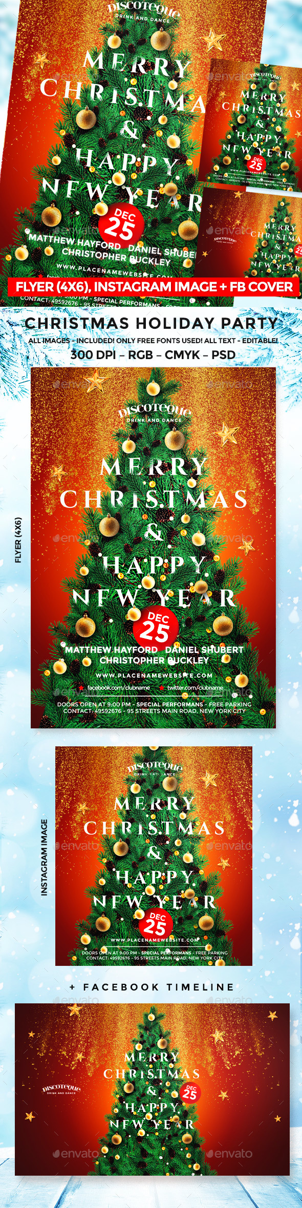 GraphicRiver Christmas Flyer 21044961