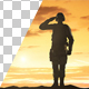 Silhouette Of A Soldier Saluting During Sunset - VideoHive Item for Sale