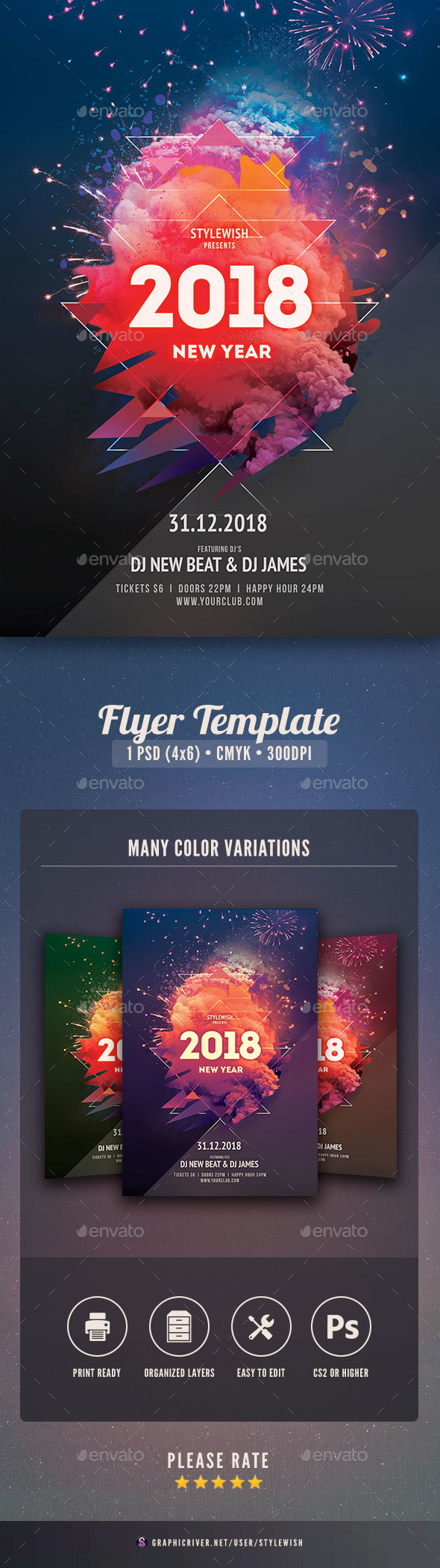 GraphicRiver New Year Flyer 21045036