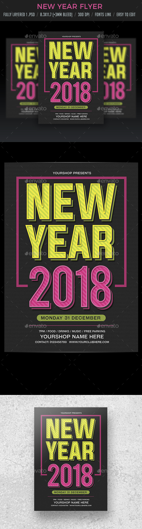 New Year Eve Flyer - Clubs & Parties Events