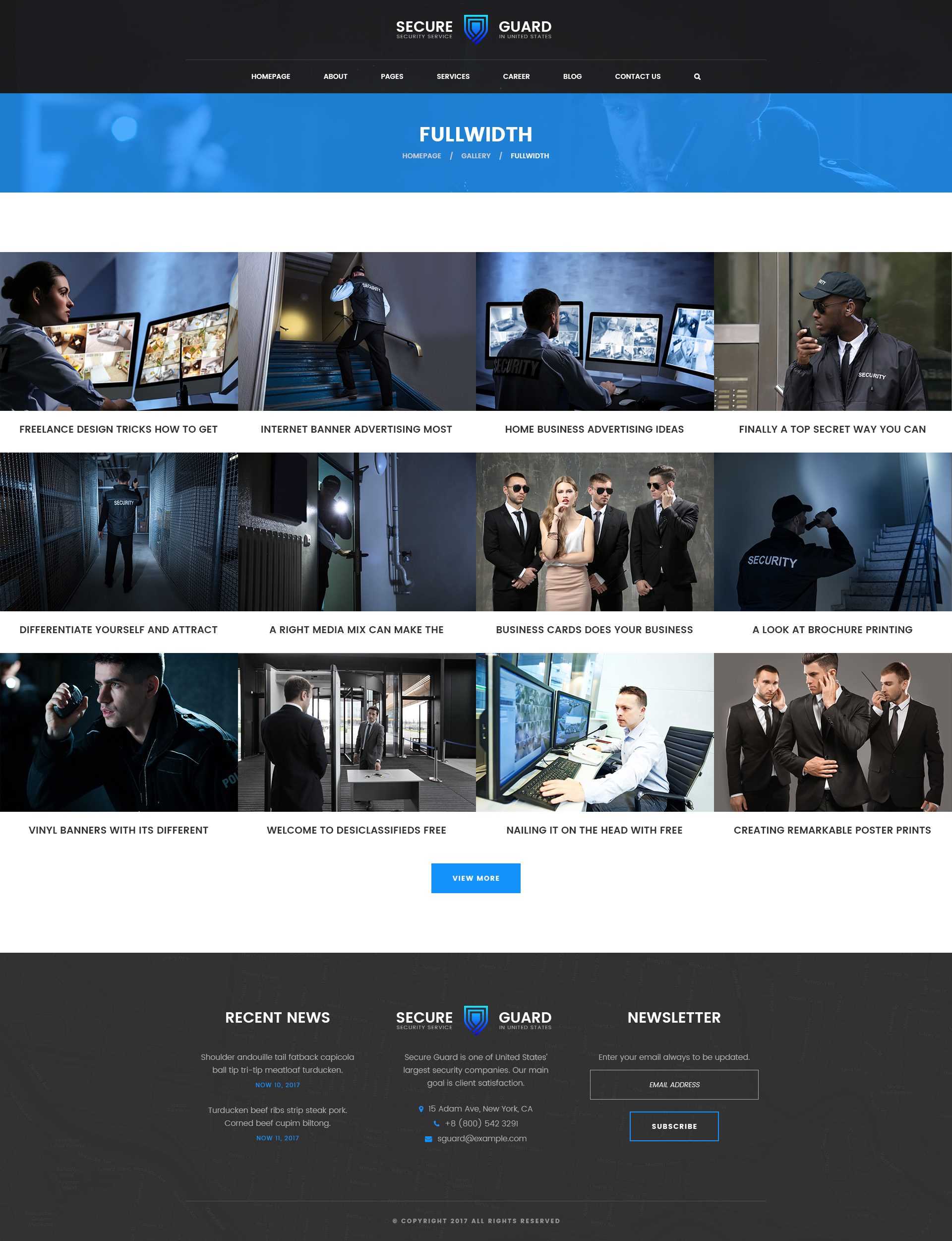 SecureGuard – Security Service PSD Template by mwtemplates | ThemeForest