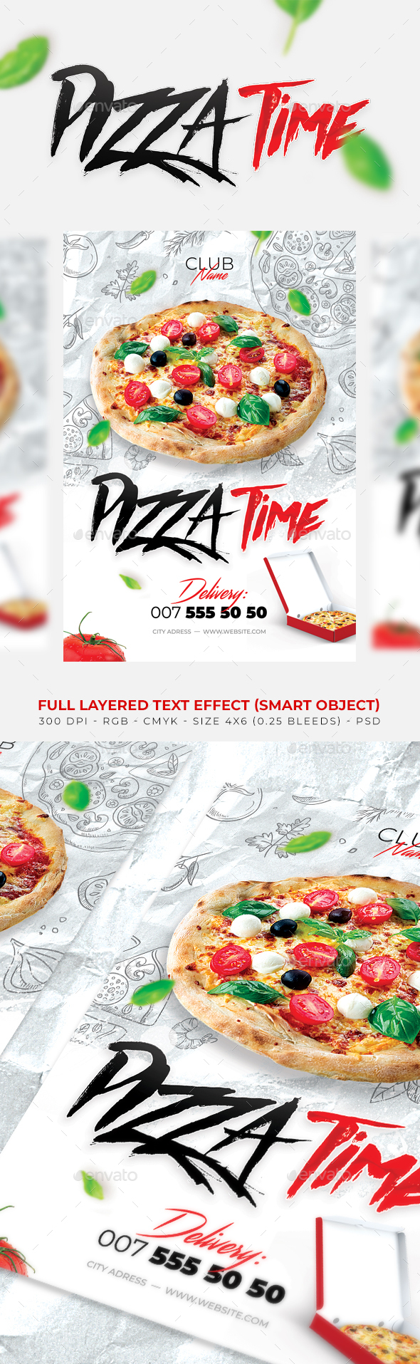 GraphicRiver Pizza flyer 21045243