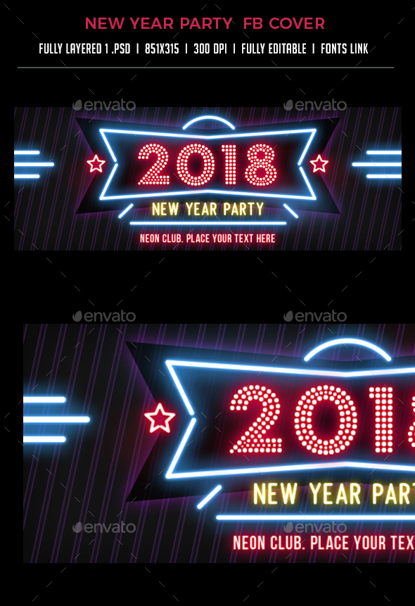New Year Eve / Party Facebook Cover - Facebook Timeline Covers Social Media
