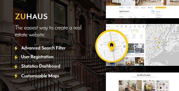 Zuhaus – A Modern Real Estate and Rental Theme