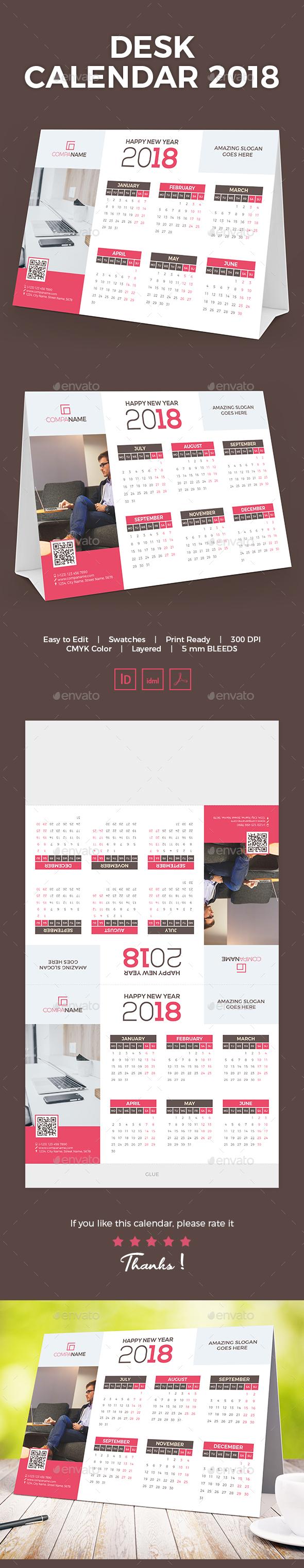 GraphicRiver Desk Calendar 2018 21045757