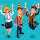 People Celebrating Party New Year Bash Illustration - GraphicRiver Item for Sale