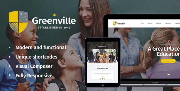 Image of Greenville | Private School WordPress Theme