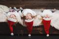 cute happy children with santa hats - PhotoDune Item for Sale