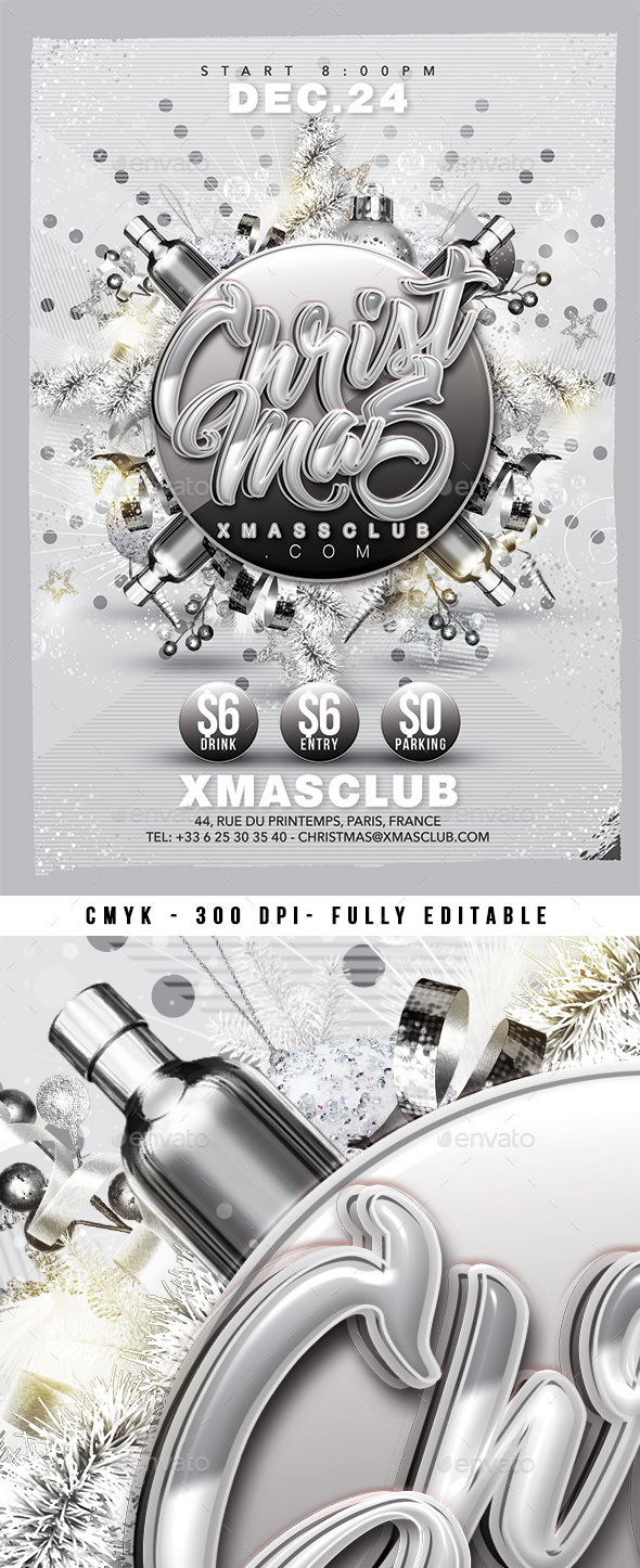 GraphicRiver Silver Christmas Party 21046110