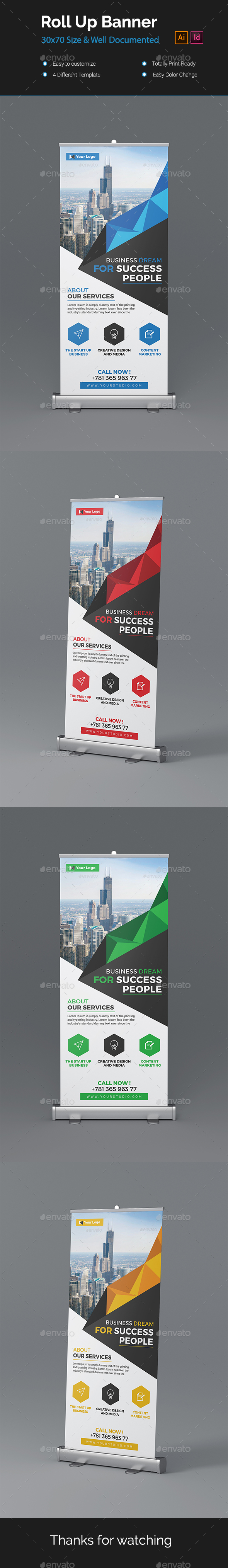 Roll-up Banners - Signage Print Templates