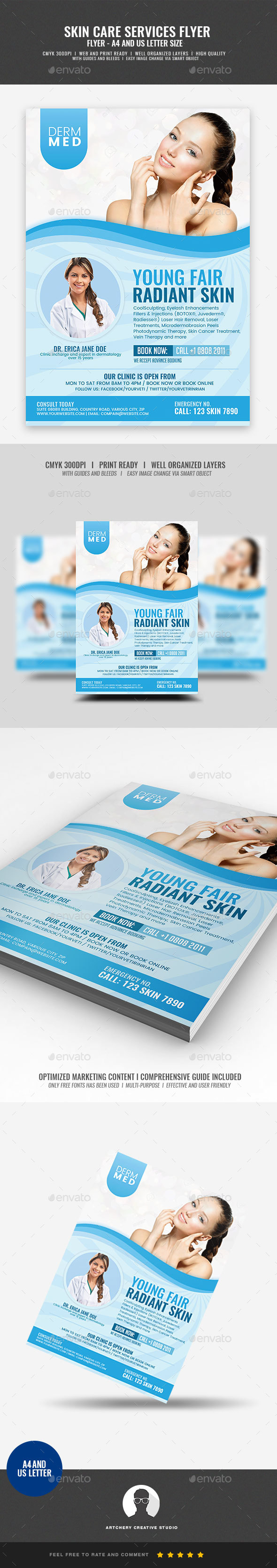 GraphicRiver Skin Care Services Flyer 21046298
