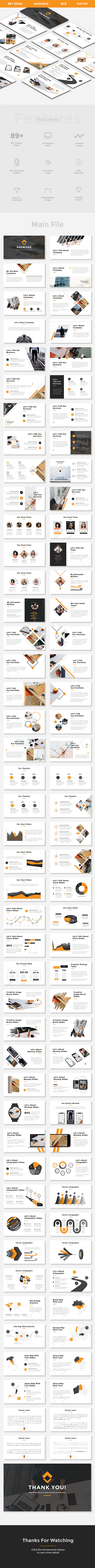 GraphicRiver Premiere Creative & Clean Google Slides Template 21046344