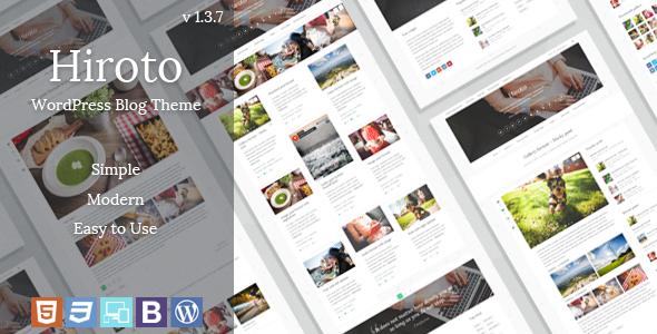 Hiroto - Responsive WordPress Blog Theme - Personal Blog / Magazine