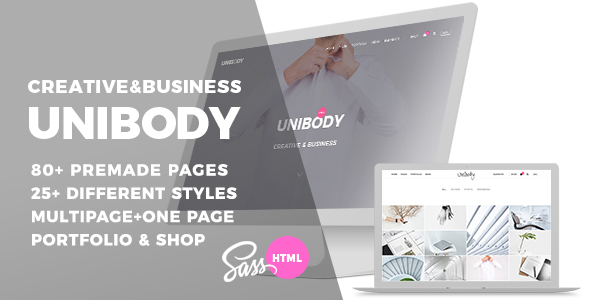 Image of Unibody - Multipurpose One/Multi Page HTML5 Template