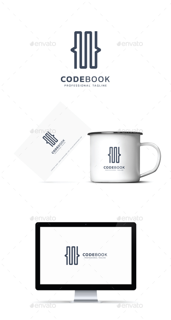 GraphicRiver Code Book Logo 21046377