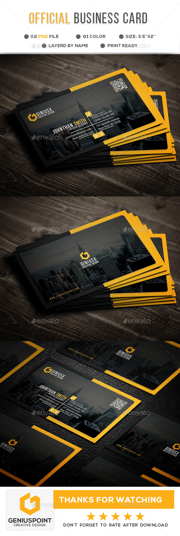 Official Business Card - Corporate Business Cards