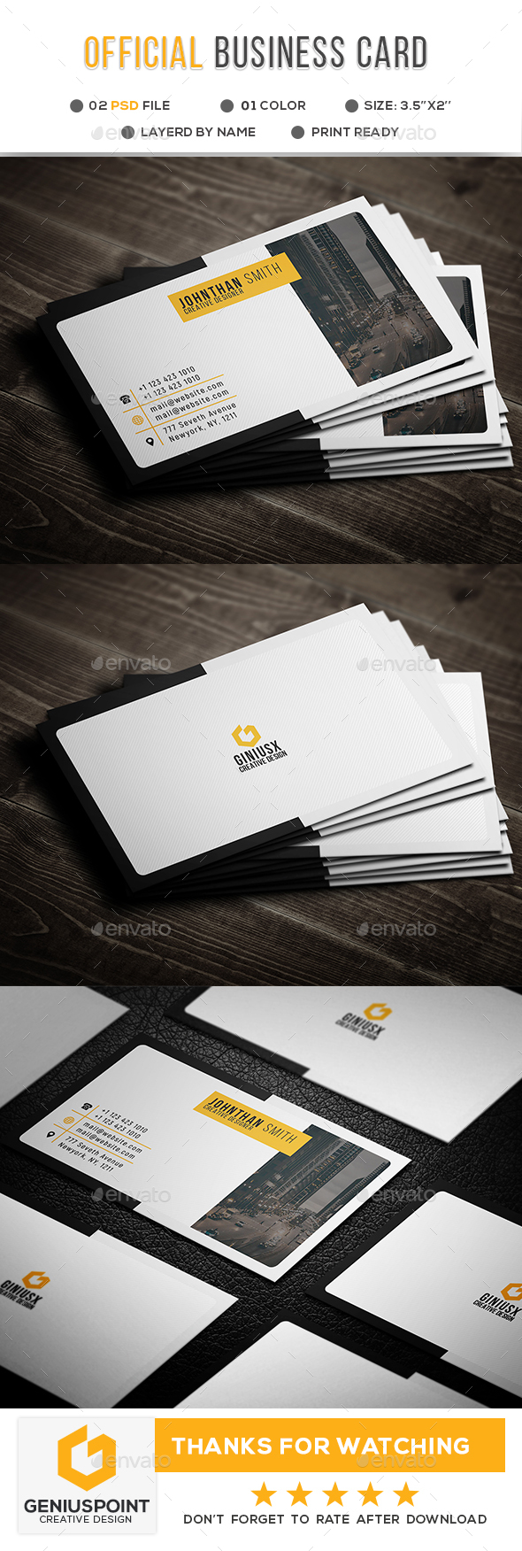 Official Business Card II - Corporate Business Cards