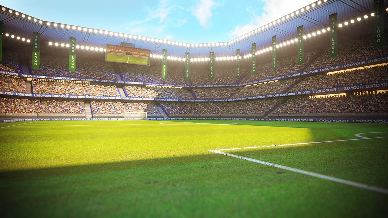 Football Soccer stadium game ready 3d model by 3DGeeq ...
