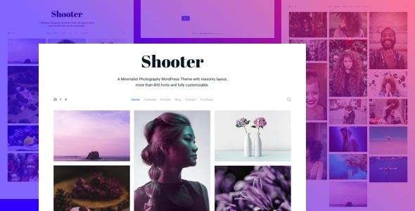 Shooter - Photography Portfolio WordPress theme - Photography Creative