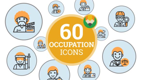 VideoHive People Occupation Icons 21046612