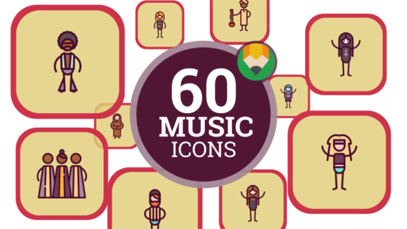 VideoHive People Music Genre Icons 21046652
