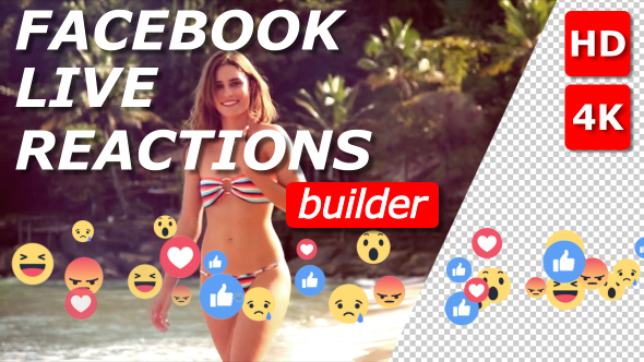Videohive Facebook Live Reactions Builder