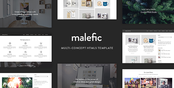 Malefic - Multipurpose One Page HTML5 Template - Creative Site Templates