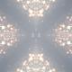 Clean Elegance White Particle Kaleida Background