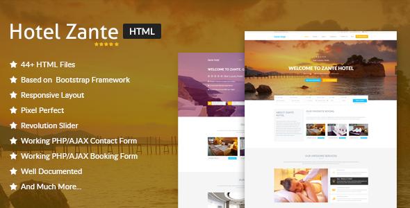 Hotel Zante - Hotel & Resort HTML Template