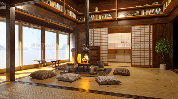 GraphicRiver Japanese Interior Design 3D Illustration 21047102