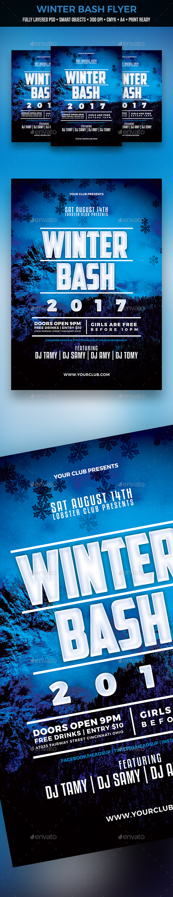 GraphicRiver Winter Bash Flyer 21047152